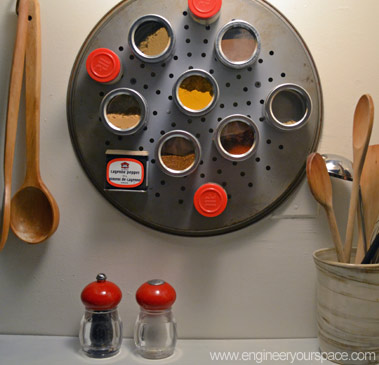 DIY magnetic spice rack 1