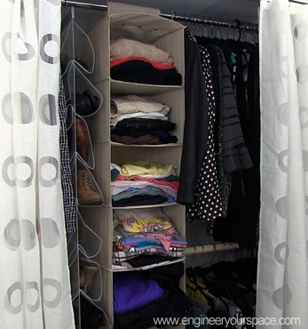 How to organize your bedroom closet | Smart DIY Solutions for Renters