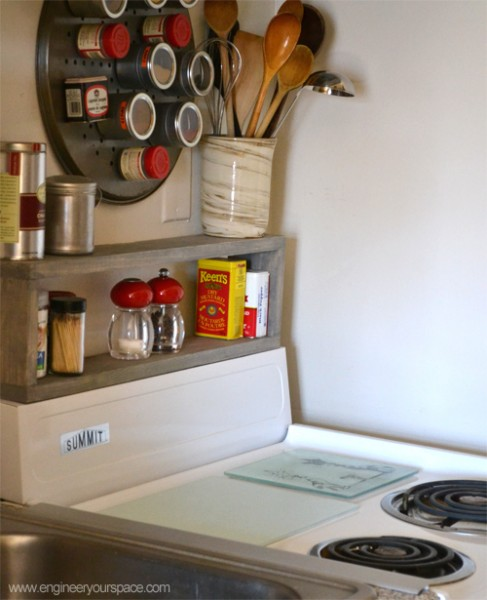 Extra Storage In A Small Kitchen Diy Shelf Above The Stove Smart