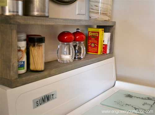 Extra storage in a small kitchen diy shelf above the stove smart diy solutions for renters - Make cabinet scratch extra storage space ...