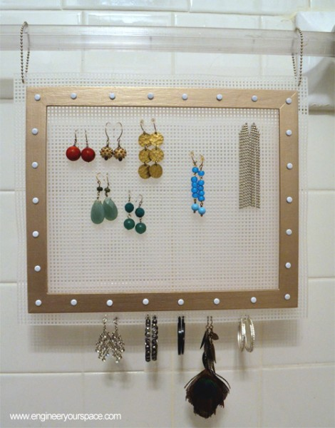 DIY Hanging Earring Jewelry Organizer Smart DIY Solutions for Renters