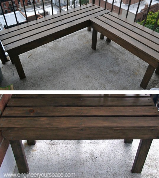 how to make an outdoor bench