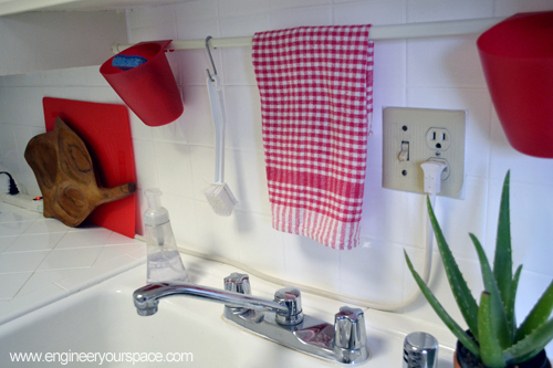 Small Kitchen Ideas Tension Rod Above Sink Smart Diy
