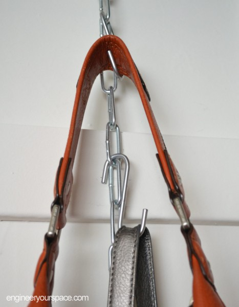 diy hanging purse organizer smart diy solutions for renters ForHooks To Hang Purses