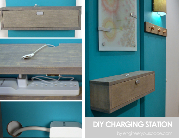 Diy charging station shelf combo smart diy solutions for Diy cell phone charging station