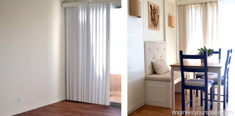 How to conceal vertical blinds with curtains | Smart DIY Solutions ...