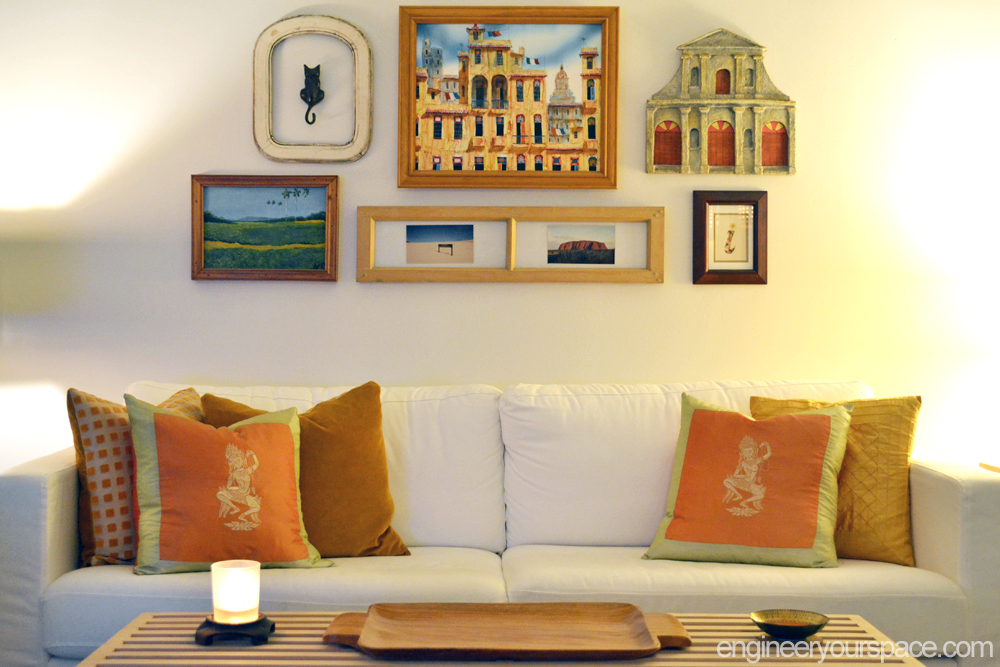 Decorating Idea For A Big Blank Wall Gallery Walls