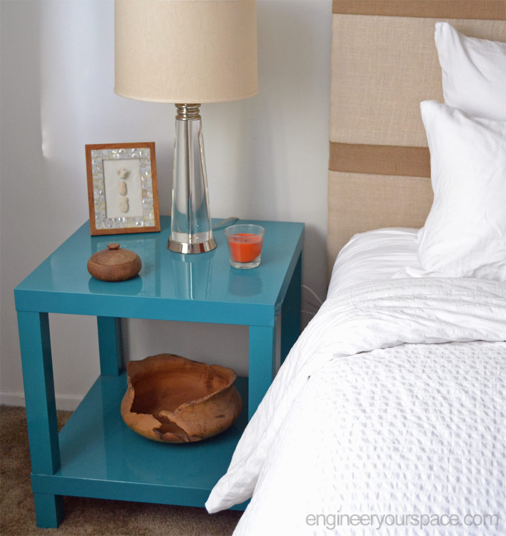 diy nightstand: ikea lack table hack | smart diy solutions for renters