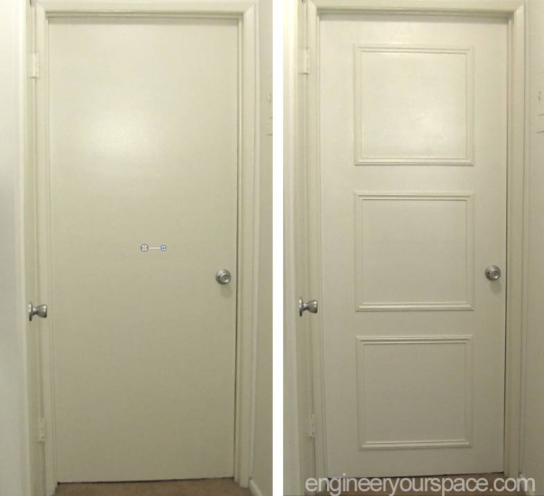 Door-moulding-before-and-after & Easy door upgrade with moulding | Smart DIY Solutions for Renters