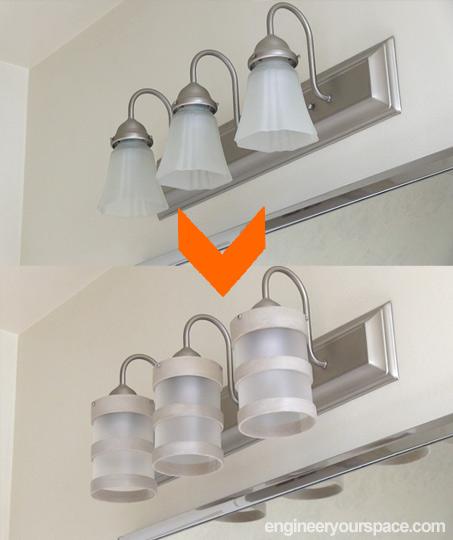 bathroom design ideas diy lighting fixture makeover