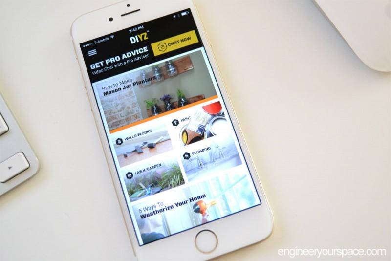 DIYZ-app-on-phone