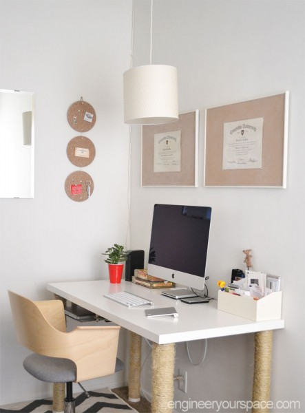 Ikea hack easy diy pendant lamp with alang lamp shade smart diy finished office closer view aloadofball Image collections