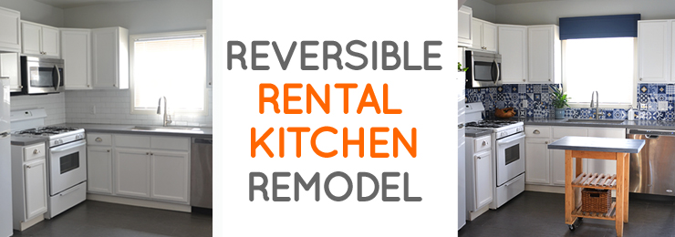Reversible rental kitchen makeover on a budget