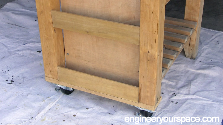 IKEA-kitchen-cart-spice-rack-stained