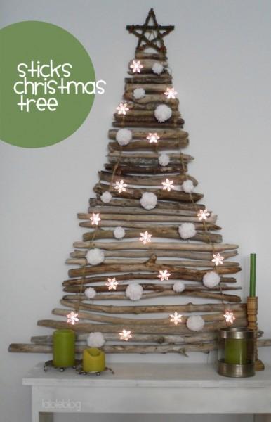 arbol de navidad con palos lalole stick christmas tree 1