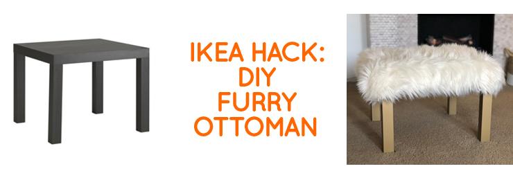DIY Furry Ottoman and more IKEA Hacks