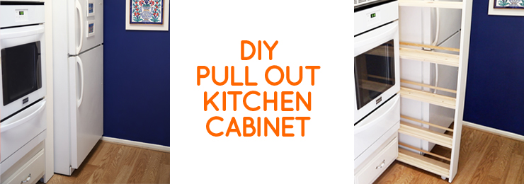 DIY pull out kitchen pantry