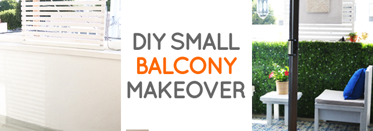 DIY LA rental balcony makeover