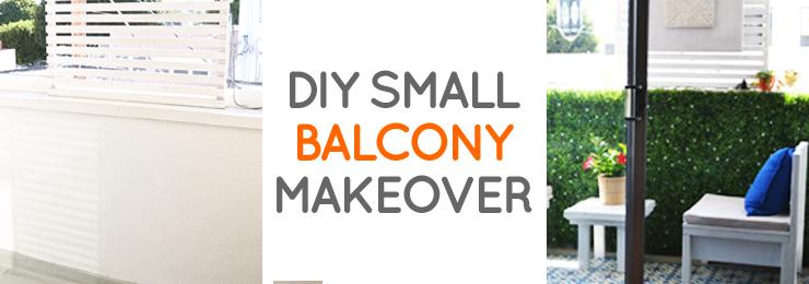 DIY LA rental balcony makeover