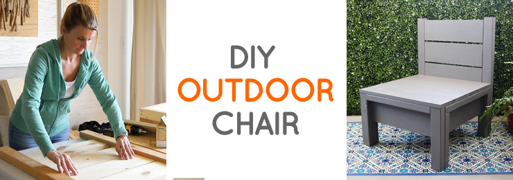 Simple DIY chair perfect for outdoor living