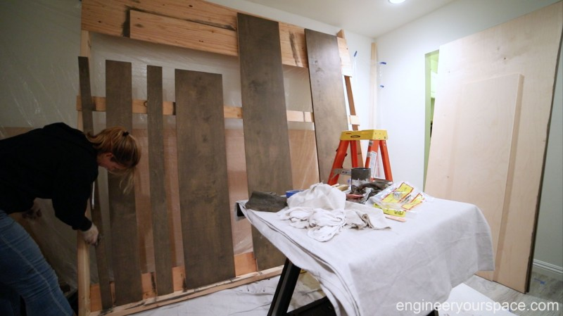 Staining-panels-Murphy-Bed