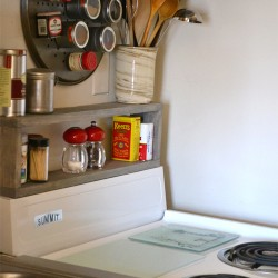 DIY Shelf above the stove