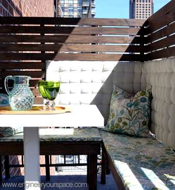 How to create an outdoor balcony dining area