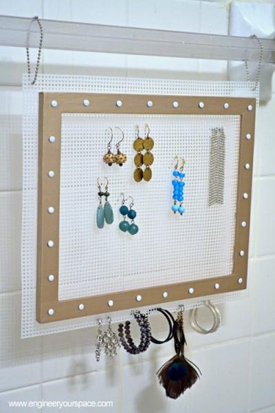 Diy Hanging Earring Jewelry Organizer Smart Diy