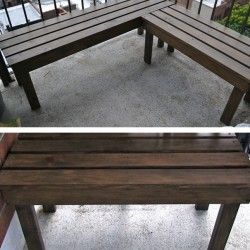 DIY wood benches
