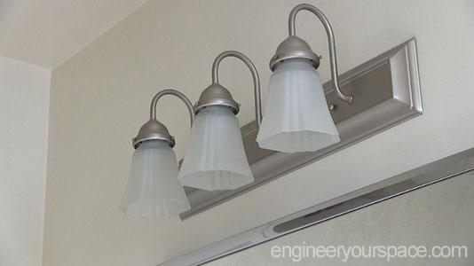 Diy Bathroom Lighting Fixture Makeover Smart Diy Solutions For Renters