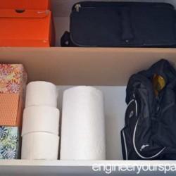 Extra shelf top of closet