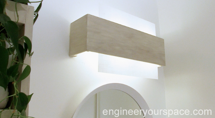 Camouflaging A Dated Bathroom Light Fixture Smart Diy
