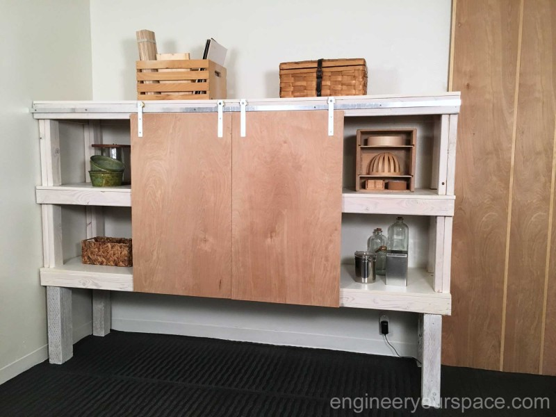 Shelving-unit-with-barn-doors