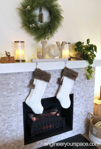 Fireplace-mantel-for-Christmas-side-view