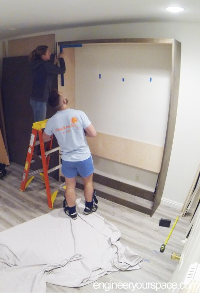 Murphy-Bed-assembly---checking-square