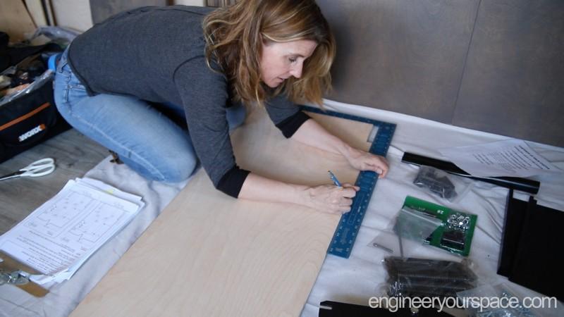 Murphy-Bed-hardware-kit---marking-holes