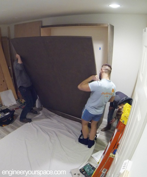 Murphy-bed-installation-putting-on-face-panel-2