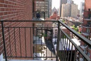 Plain empty balcony