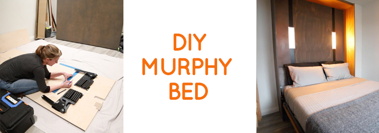 DIY Murphy bed / wall bed with hardware kit & DIY LED lights