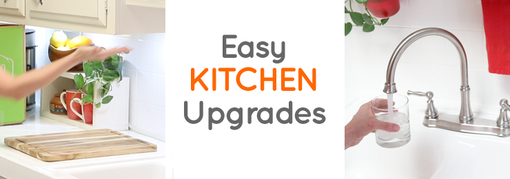 Quick, Easy and Renter-friendly Kitchen Upgrades