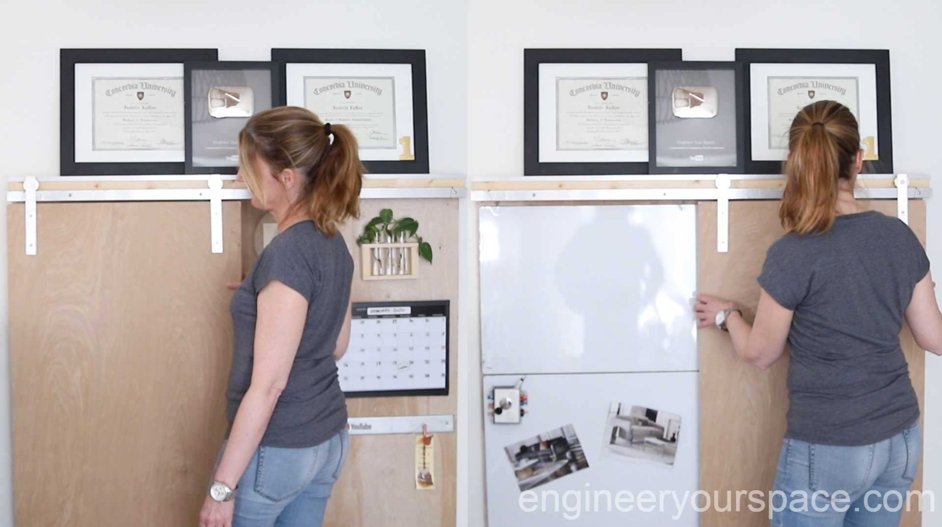 Home Office Ideas Hidden Whiteboard With Barn Door Smart Diy Solutions For Renters